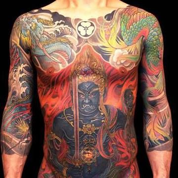 Japanese Gang Yakuza Full Body Tattoo Meanings (225)