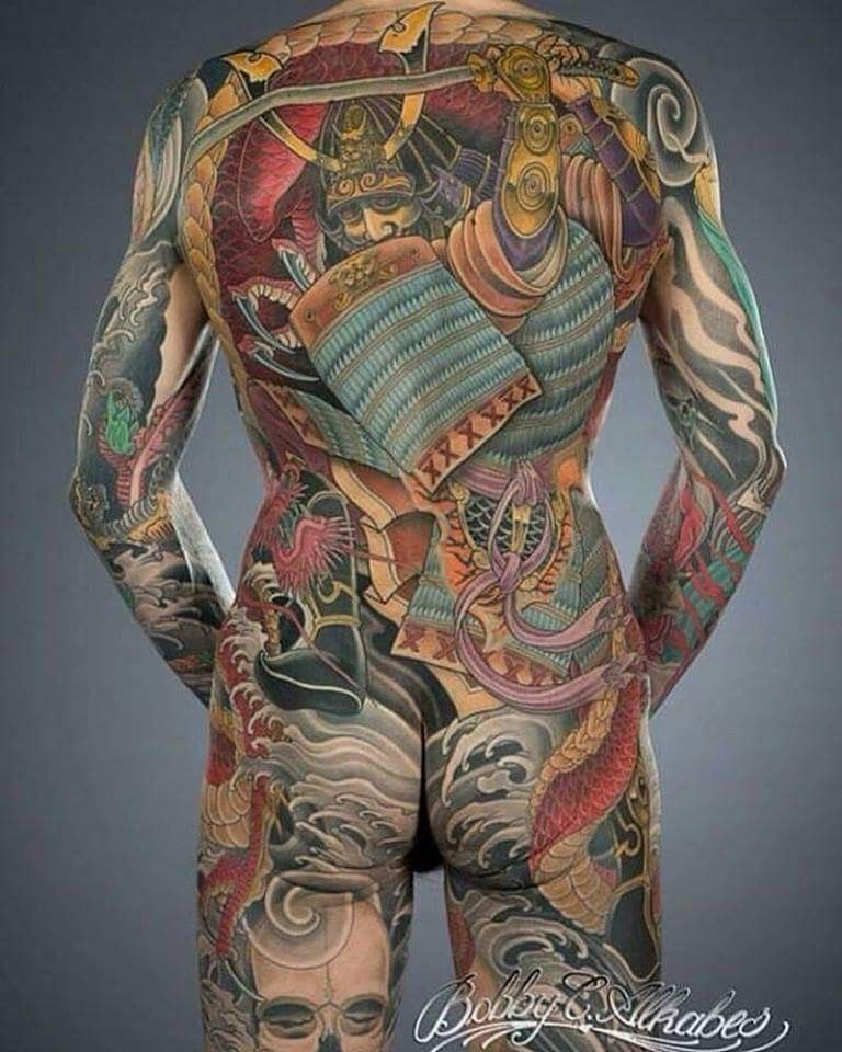 Japanese Gang Yakuza Full Body Tattoo Meanings (229)