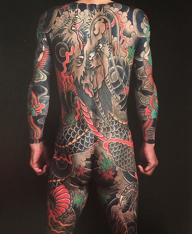 Japanese Gang Yakuza Full Body Tattoo Meanings (232)