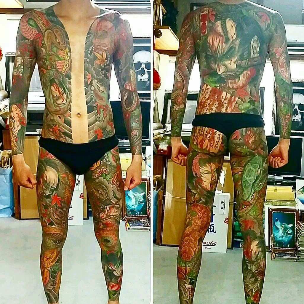 Japanese Gang Yakuza Full Body Tattoo Meanings (242)