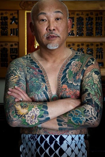 Japanese Gang Yakuza Full Body Tattoo Meanings (247)