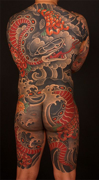 Japanese Gang Yakuza Full Body Tattoo Meanings (250)
