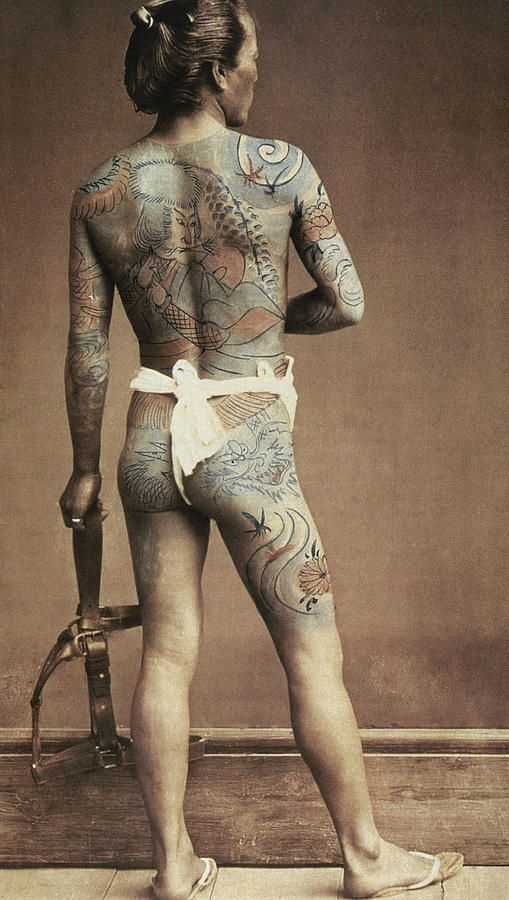 Japanese Gang Yakuza Full Body Tattoo Meanings (262)