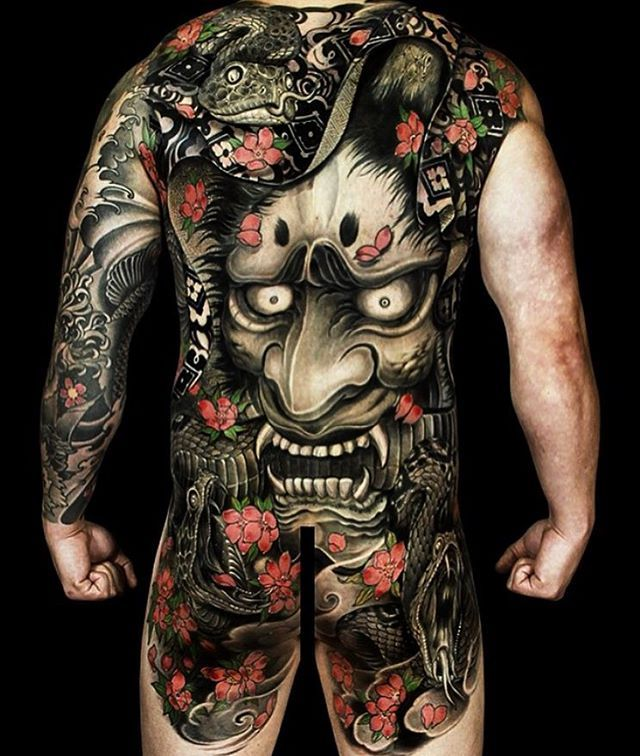 Japanese Gang Yakuza Full Body Tattoo Meanings (280)