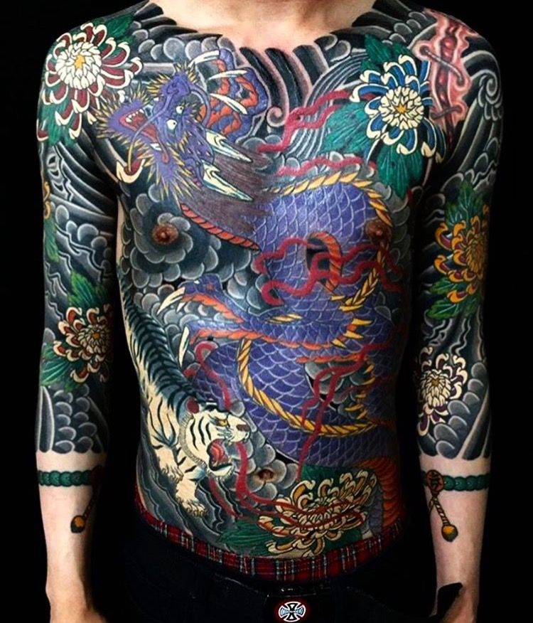 Japanese Gang Yakuza Full Body Tattoo Meanings (287)