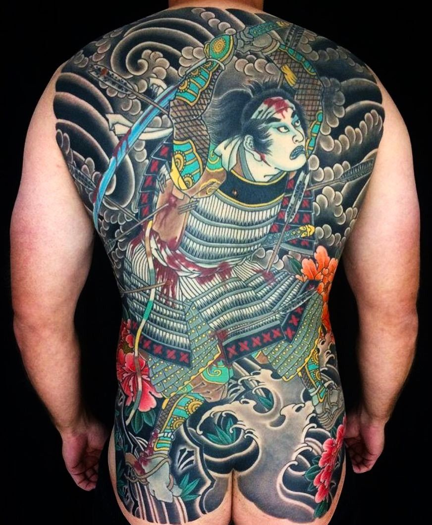 Japanese Gang Yakuza Full Body Tattoo Meanings (288)