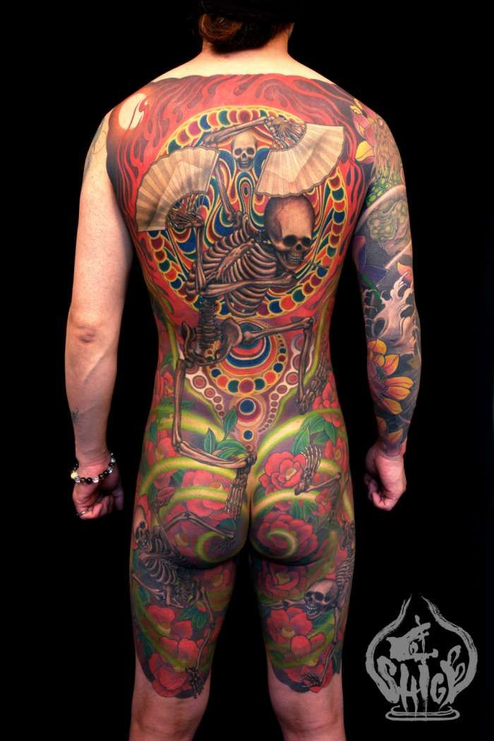 Japanese Gang Yakuza Full Body Tattoo Meanings (290)