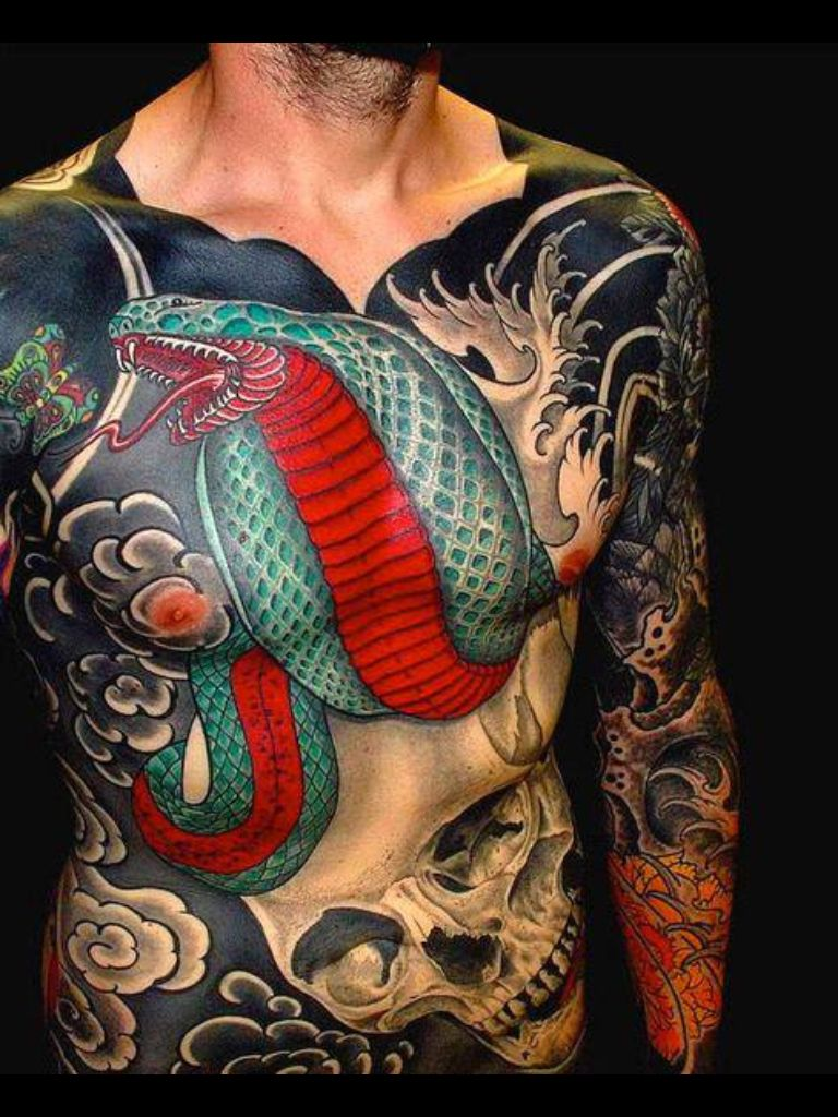 Japanese Gang Yakuza Full Body Tattoo Meanings (291)