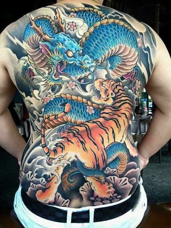 Japanese Gang Yakuza Full Body Tattoo Meanings (297)