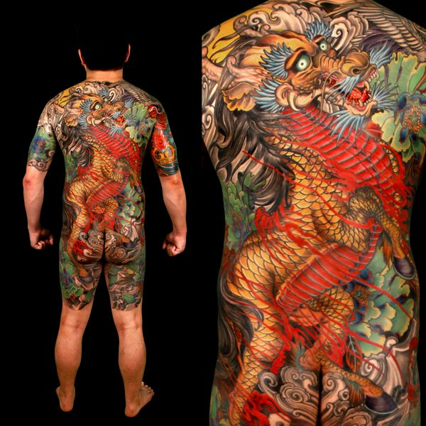 Japanese Gang Yakuza Full Body Tattoo Meanings (302)