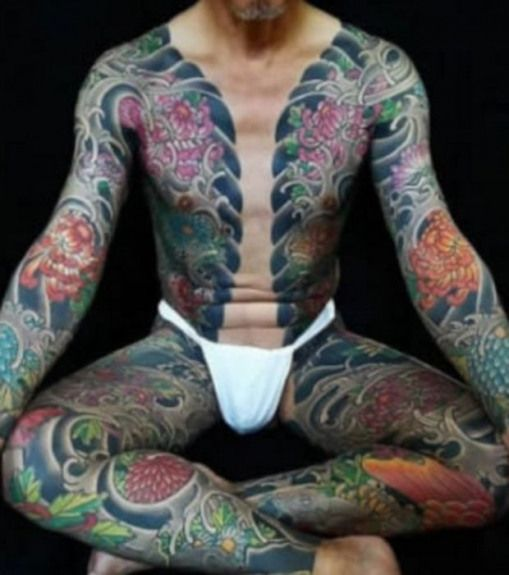 Japanese Gang Yakuza Full Body Tattoo Meanings (310)