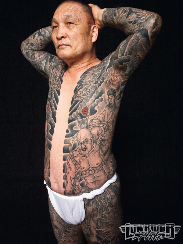Japanese Gang Yakuza Full Body Tattoo Meanings (312)