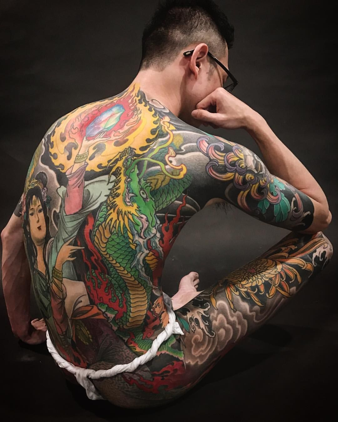 Japanese Gang Yakuza Full Body Tattoo Meanings (322)