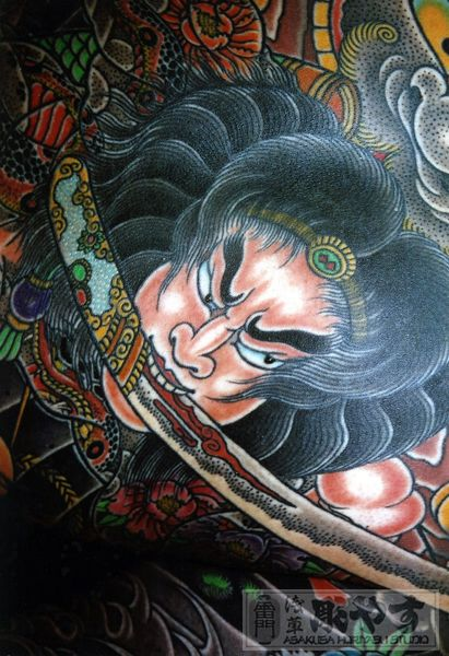 Japanese Gang Yakuza Full Body Tattoo Meanings (35)
