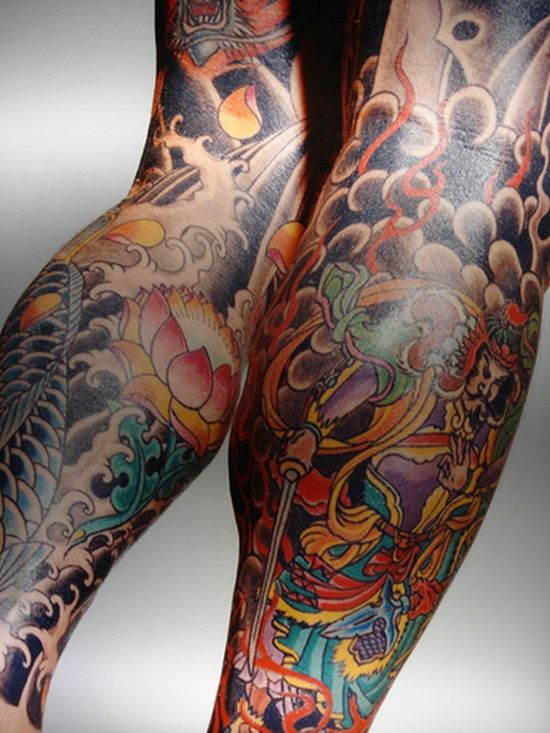 Japanese Gang Yakuza Full Body Tattoo Meanings (36)