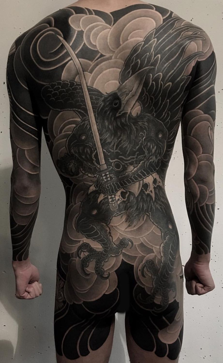 Japanese Gang Yakuza Full Body Tattoo Meanings (38)