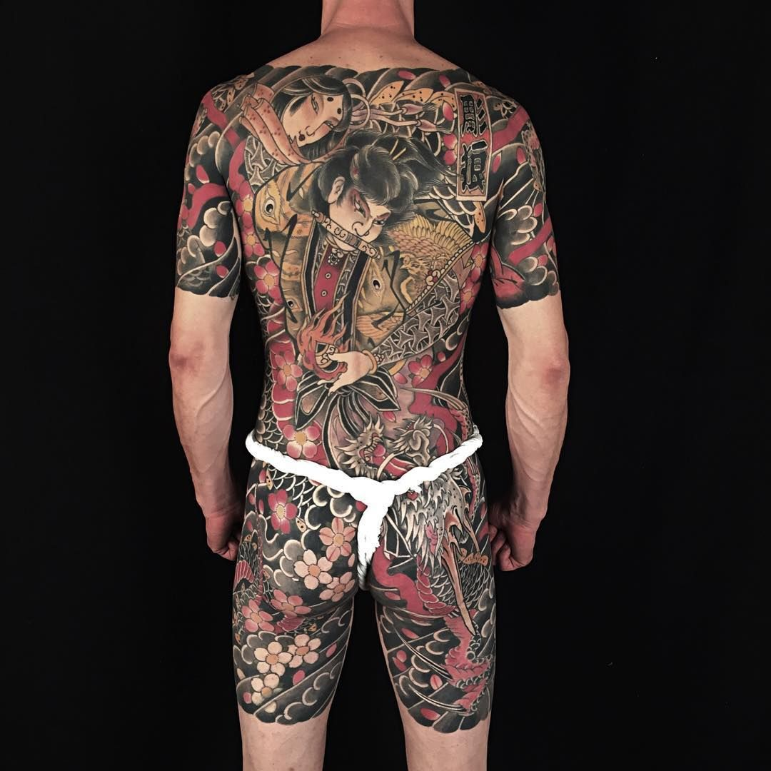 Japanese Gang Yakuza Full Body Tattoo Meanings (42)