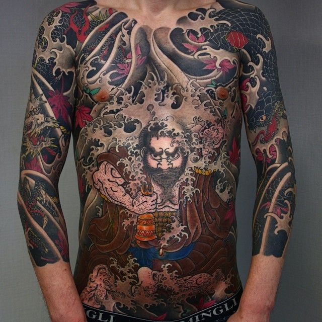 Japanese Gang Yakuza Full Body Tattoo Meanings (56)