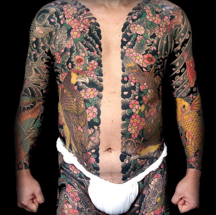 Japanese Gang Yakuza Full Body Tattoo Meanings (72)