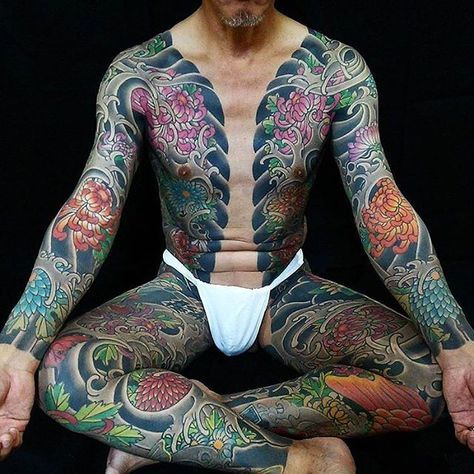 Japanese Gang Yakuza Full Body Tattoo Meanings (86)