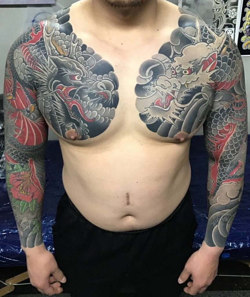 japanese gang yakuza full body tattoo meanings