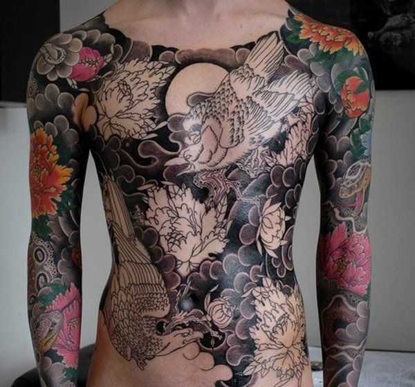 Japanese Gang Yakuza Full Body Tattoo Meanings (87)