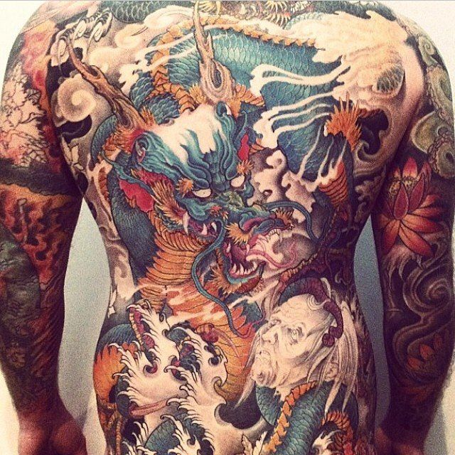 Japanese Gang Yakuza Full Body Tattoo Meanings (89)
