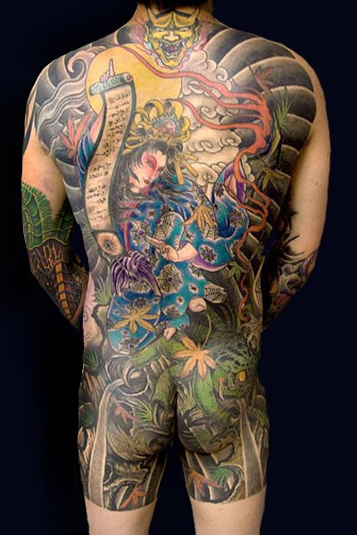 Japanese Gang Yakuza Full Body Tattoo Meanings (98)