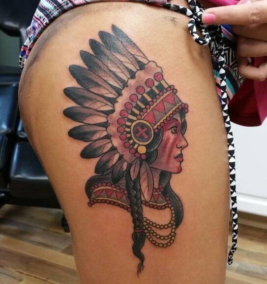 Native American Tattoos For Girls