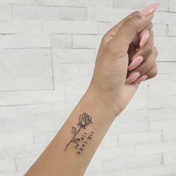 Tattoo Rose Vorlage Klein Blackworkers Darkartistries