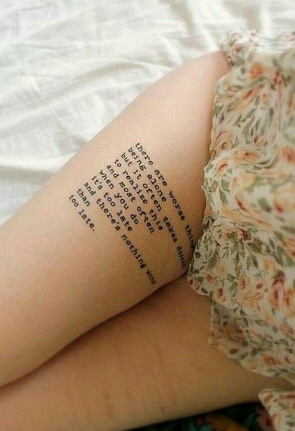 Tattoos Schriftzüge Mit Bedeutung (291)