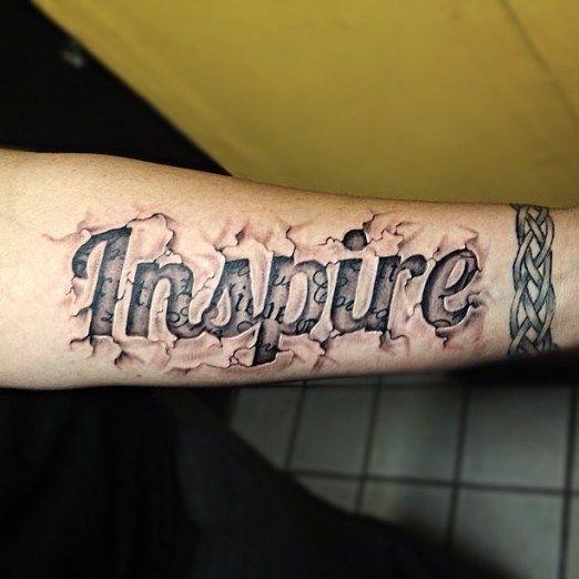Tattoos Schriftzüge Mit Bedeutung (306)