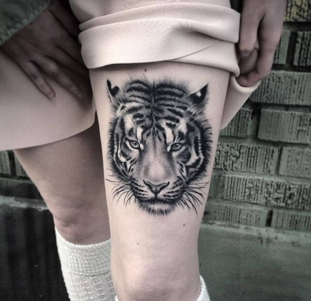 Tiger Tattoos Ideas For Girls