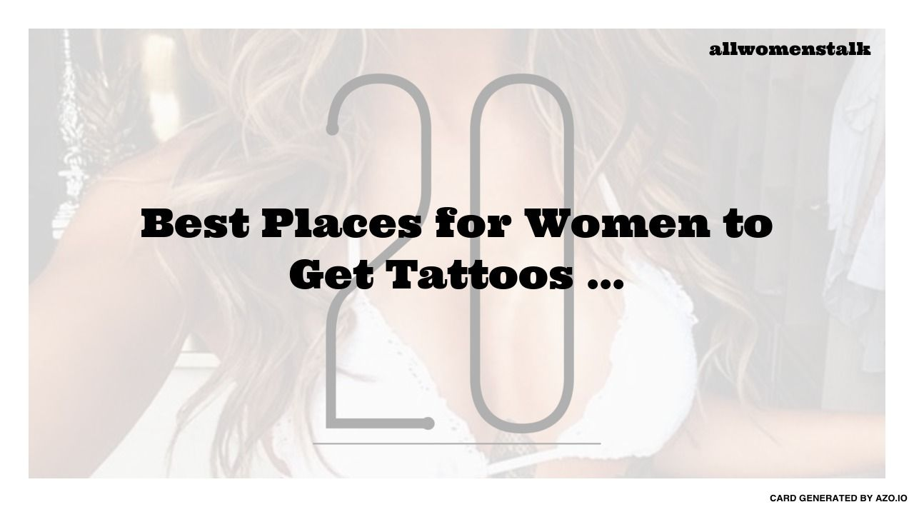 Best Place For A Tattoo On A Woman (170)