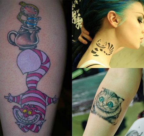 Cheshire Cat Tattoo Ideas Pictures (105)