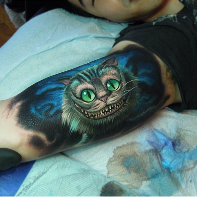 Cheshire Cat Tattoo Ideas Pictures (107)