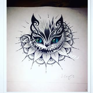 Cheshire Cat Tattoo Ideas Pictures (114)