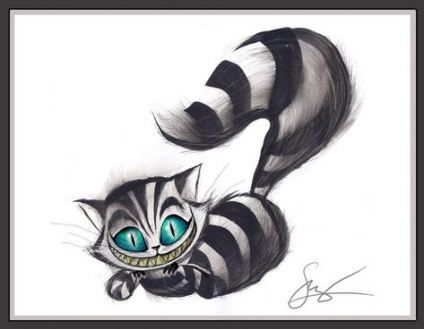 Cheshire Cat Tattoo Ideas Pictures (121)