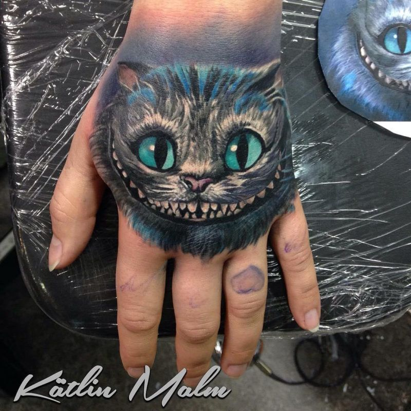 Cheshire Cat Tattoo Ideas Pictures (13)