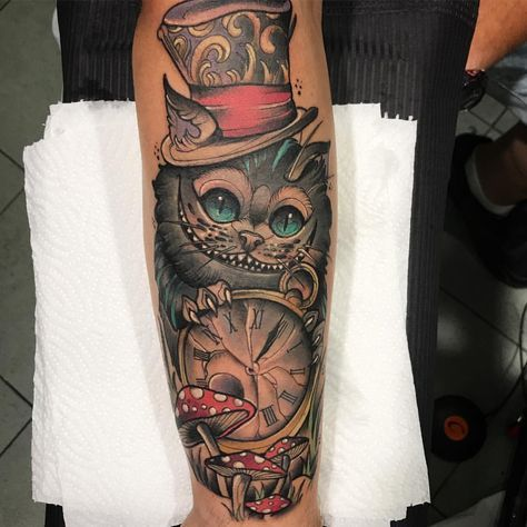 Cheshire Cat Tattoo Ideas Pictures (130)