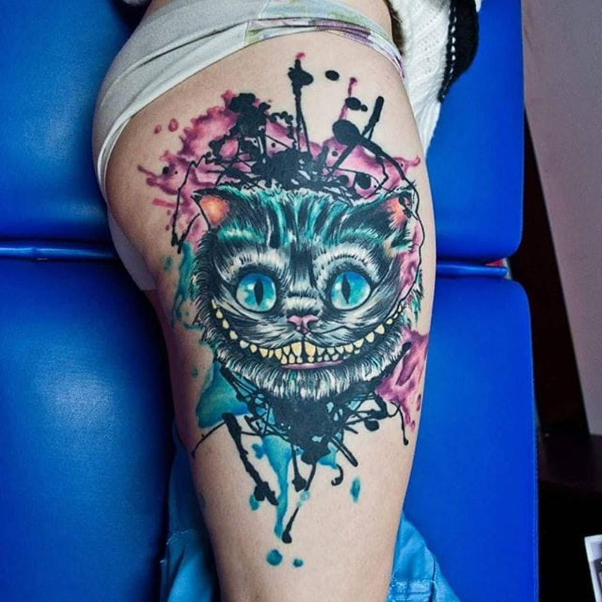 Cheshire Cat Tattoo Ideas Pictures (132)