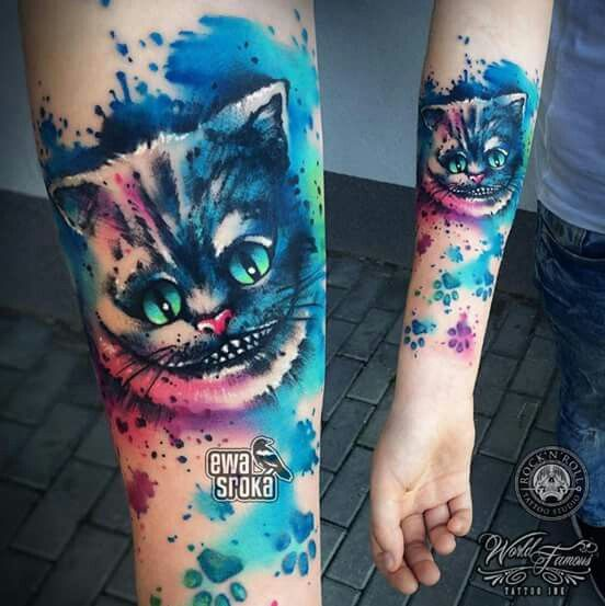 Cheshire Cat Tattoo Ideas Pictures (144)