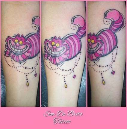Cheshire Cat Tattoo Ideas Pictures (150)