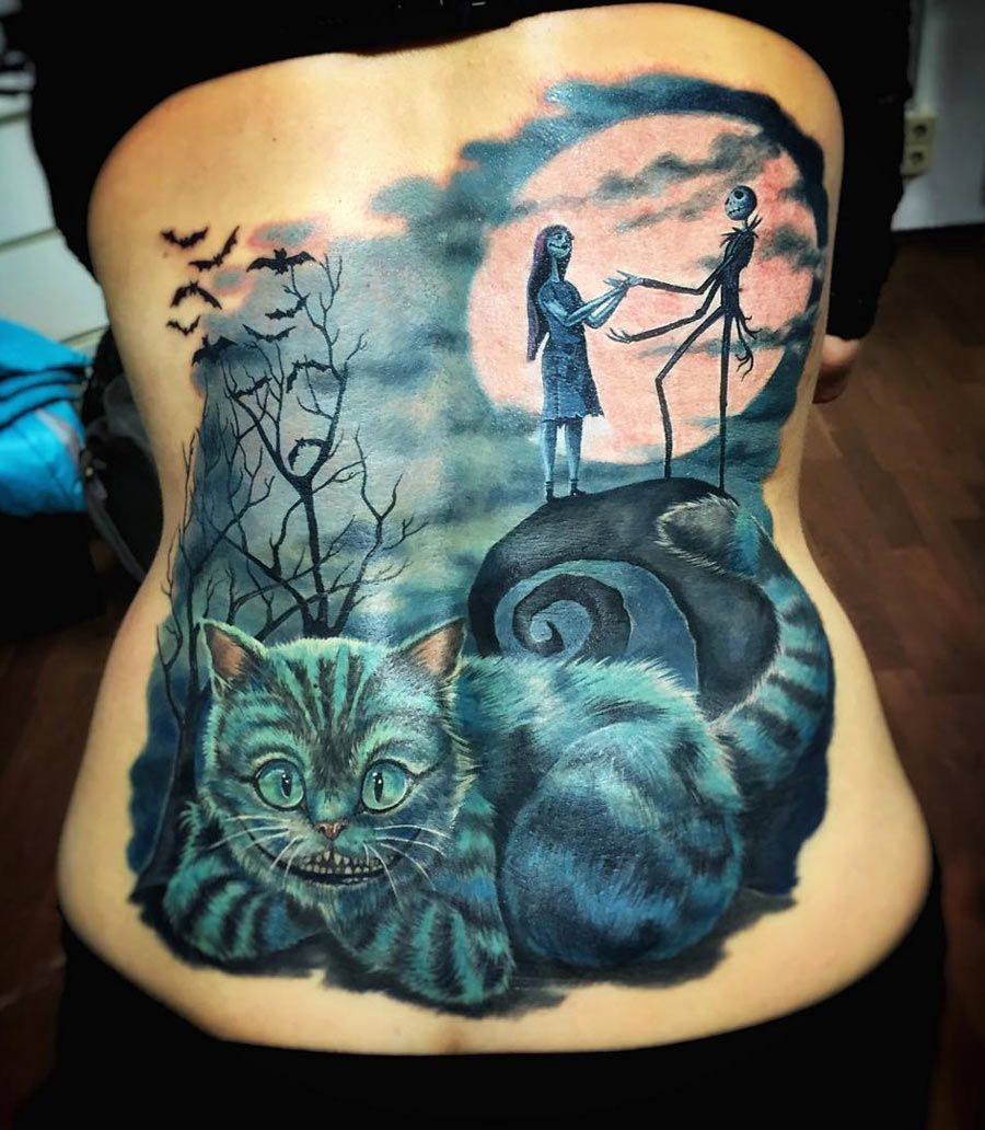 Cheshire Cat Tattoo Ideas Pictures (165)