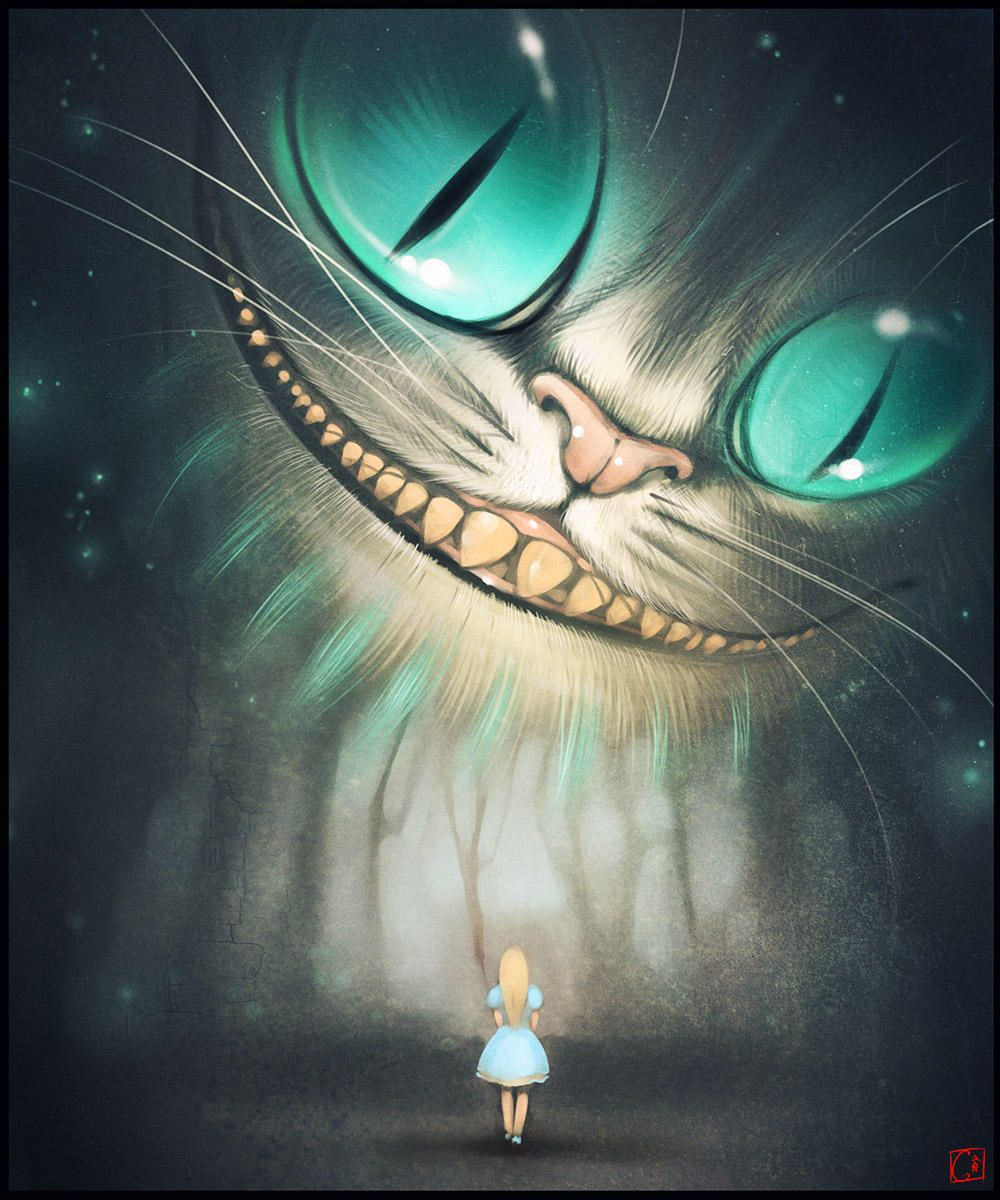 Cheshire Cat Tattoo Ideas Pictures (166)