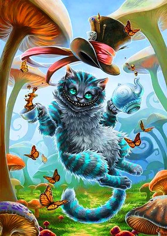 Cheshire Cat Tattoo Ideas Pictures (168)