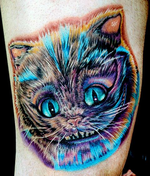 Cheshire Cat Tattoo Ideas Pictures (176)