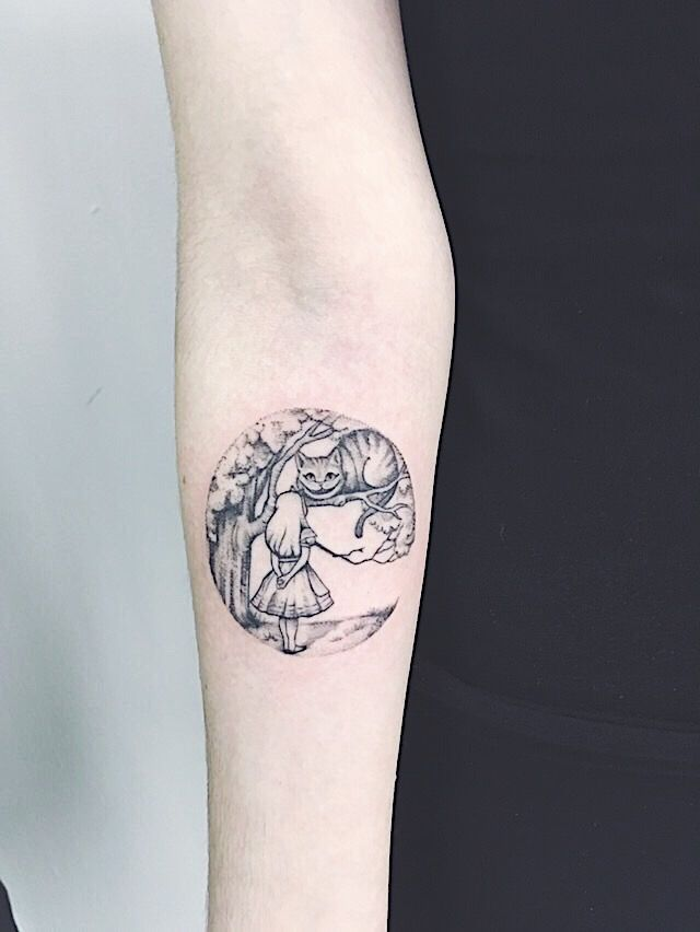 Cheshire Cat Tattoo Ideas Pictures (18)