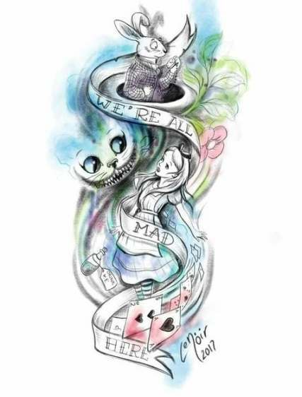 Cheshire Cat Tattoo Ideas Pictures (185)