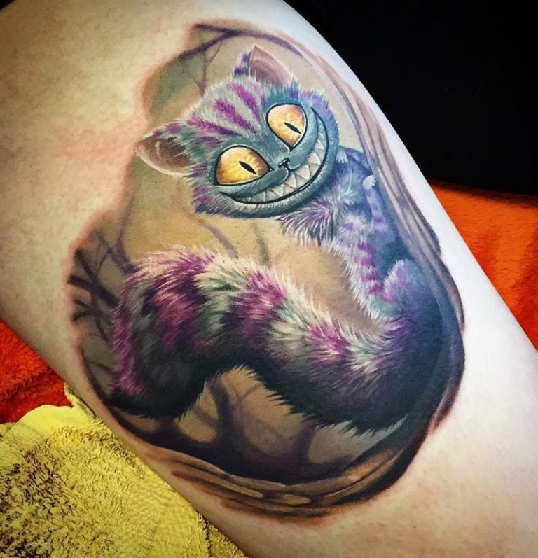 Cheshire Cat Tattoo Ideas Pictures (19)